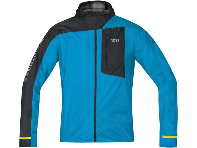 GORE WEAR R7 Windstopper Light Hooded Jacket Herren dynamic cyan/black